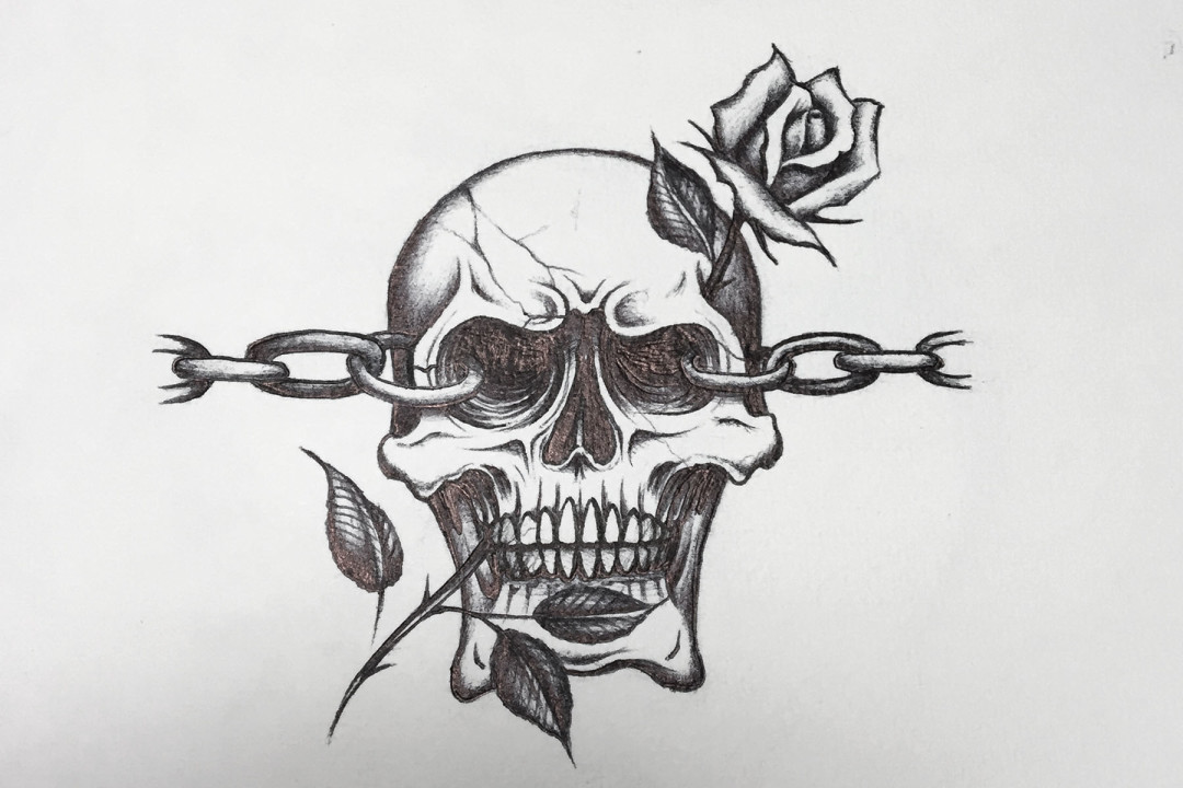 Chain Skull By Erictattooing Inkbay